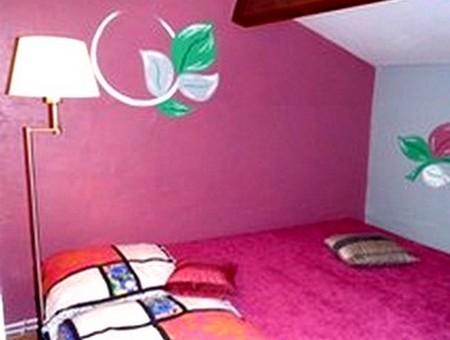 chambre rose gite breil sur roya