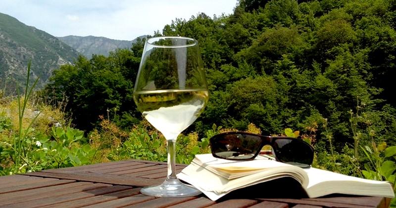 verre du vin gite lisa parc du mercantour nice