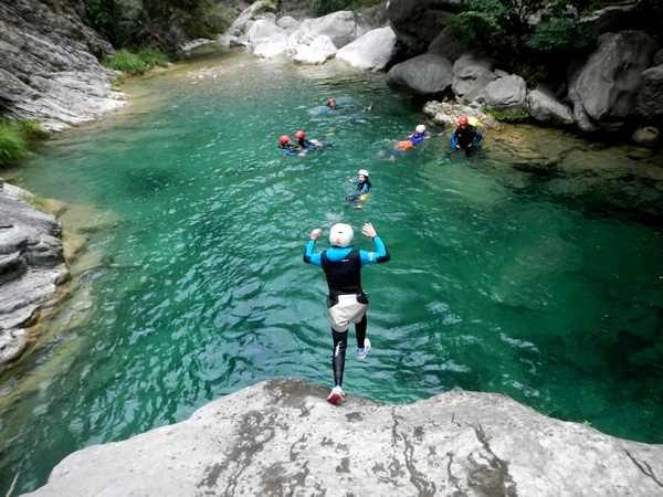 canyon saut enfant