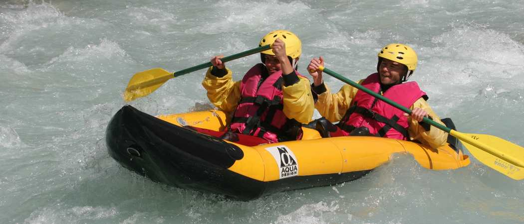 rafting couple
