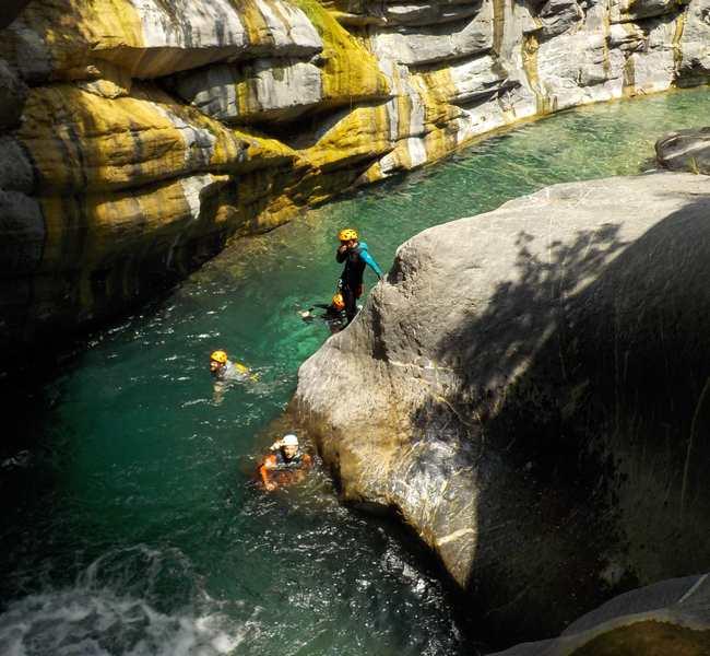 vasque canyon italie