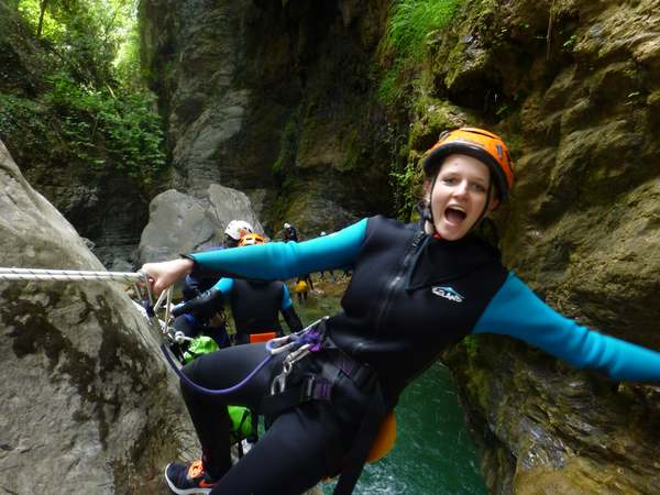 canyoning one hour from sanremo